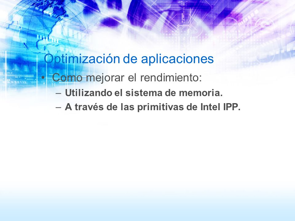 Optimización de aplicaciones