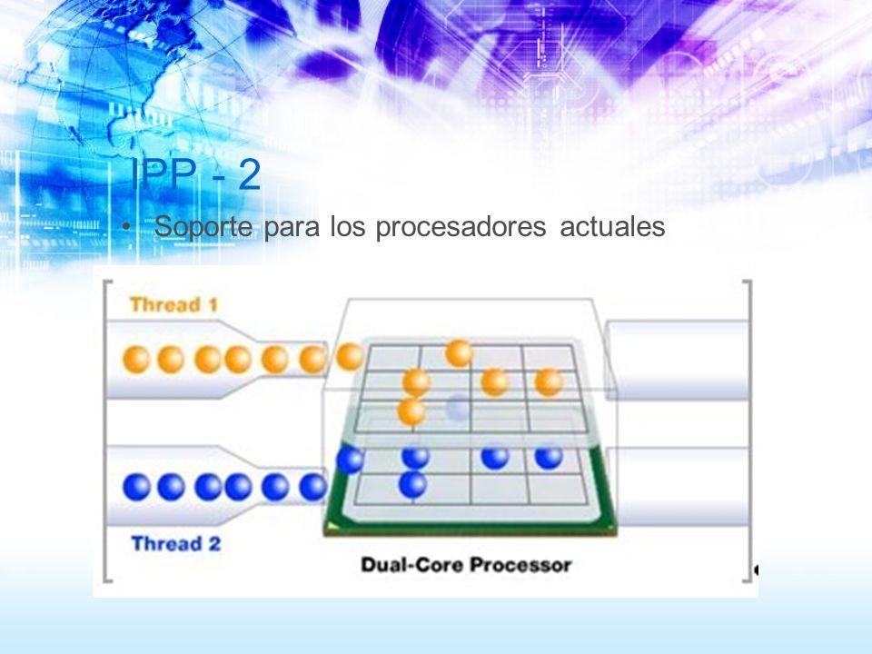 IPP - 2 Soporte para los procesadores actuales