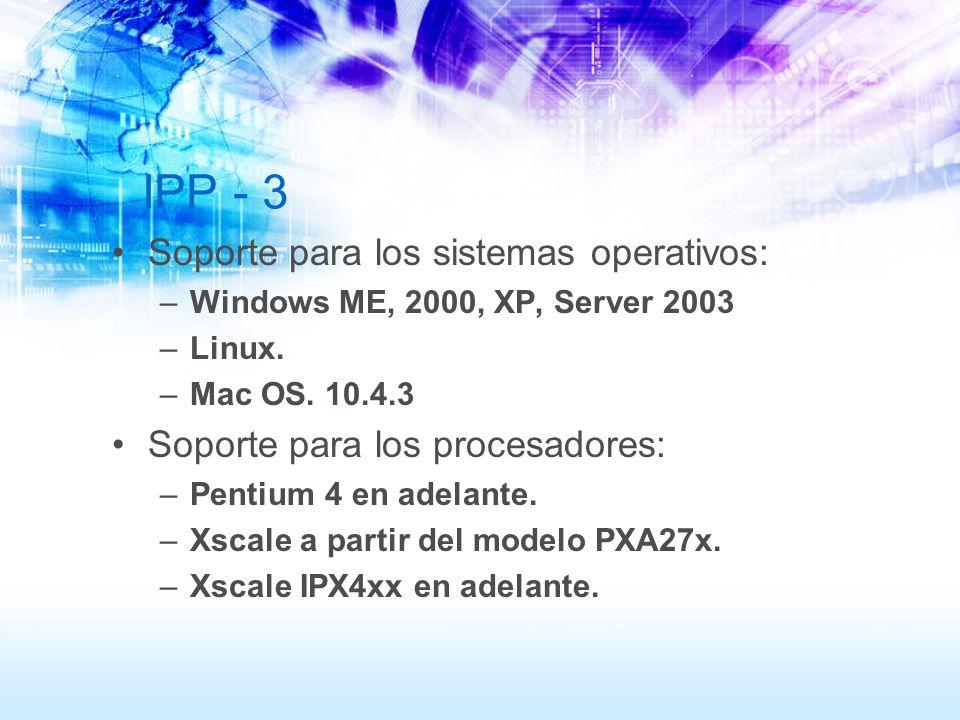 IPP - 3 Soporte para los sistemas operativos:
