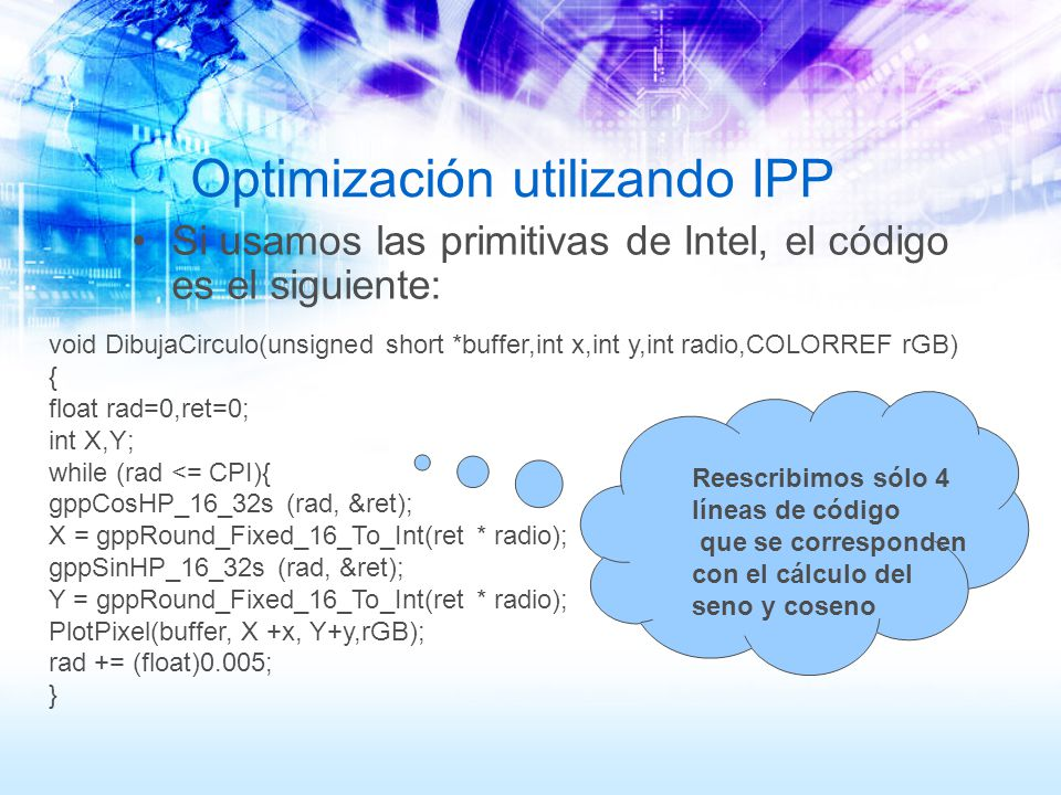 Optimización utilizando IPP