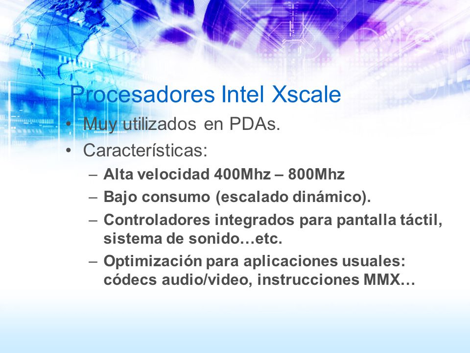 Procesadores Intel Xscale