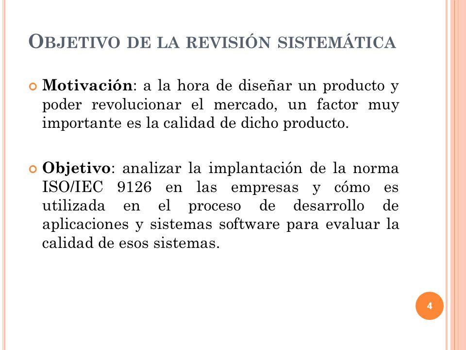 Objetivo de la revisión sistemática