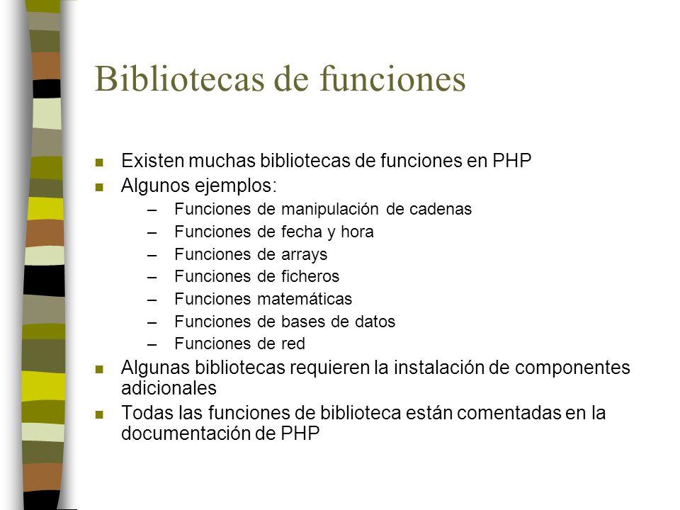 Bibliotecas de funciones