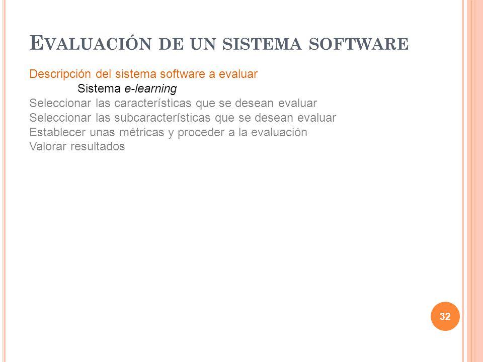 Evaluación de un sistema software