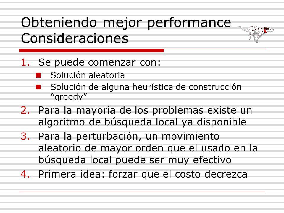 Obteniendo mejor performance Consideraciones