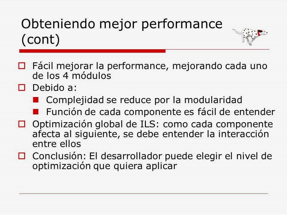 Obteniendo mejor performance (cont)