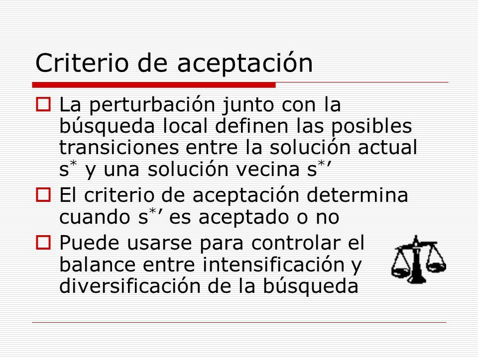 Criterio de aceptación