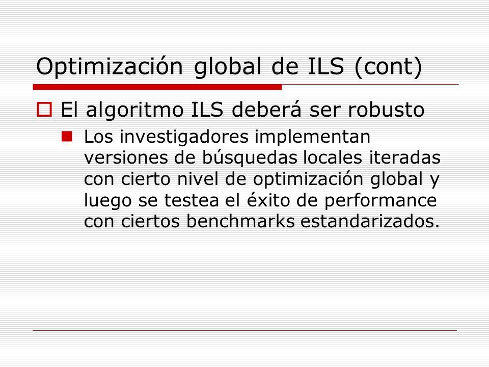 Optimización global de ILS (cont)