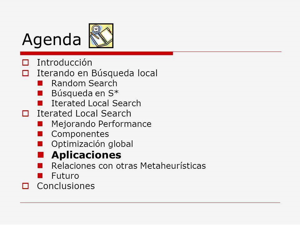 Agenda Aplicaciones Introducción Iterando en Búsqueda local