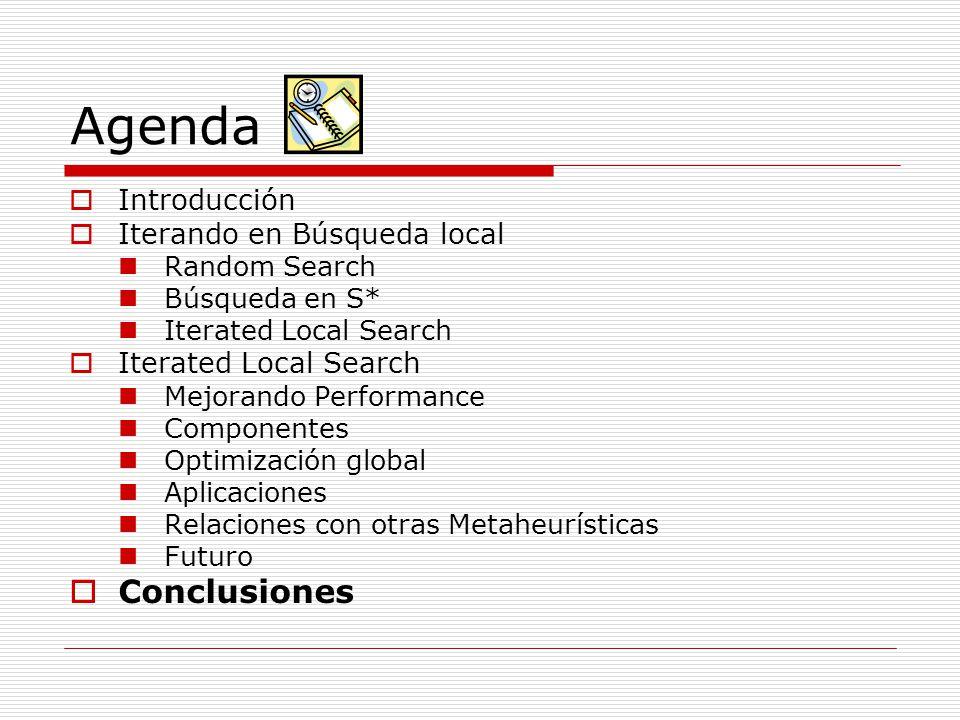 Agenda Conclusiones Introducción Iterando en Búsqueda local