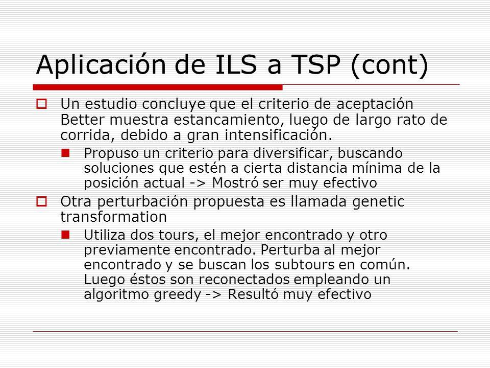Aplicación de ILS a TSP (cont)