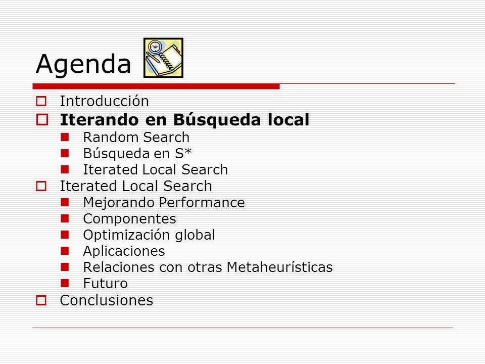 Agenda Iterando en Búsqueda local Introducción Conclusiones
