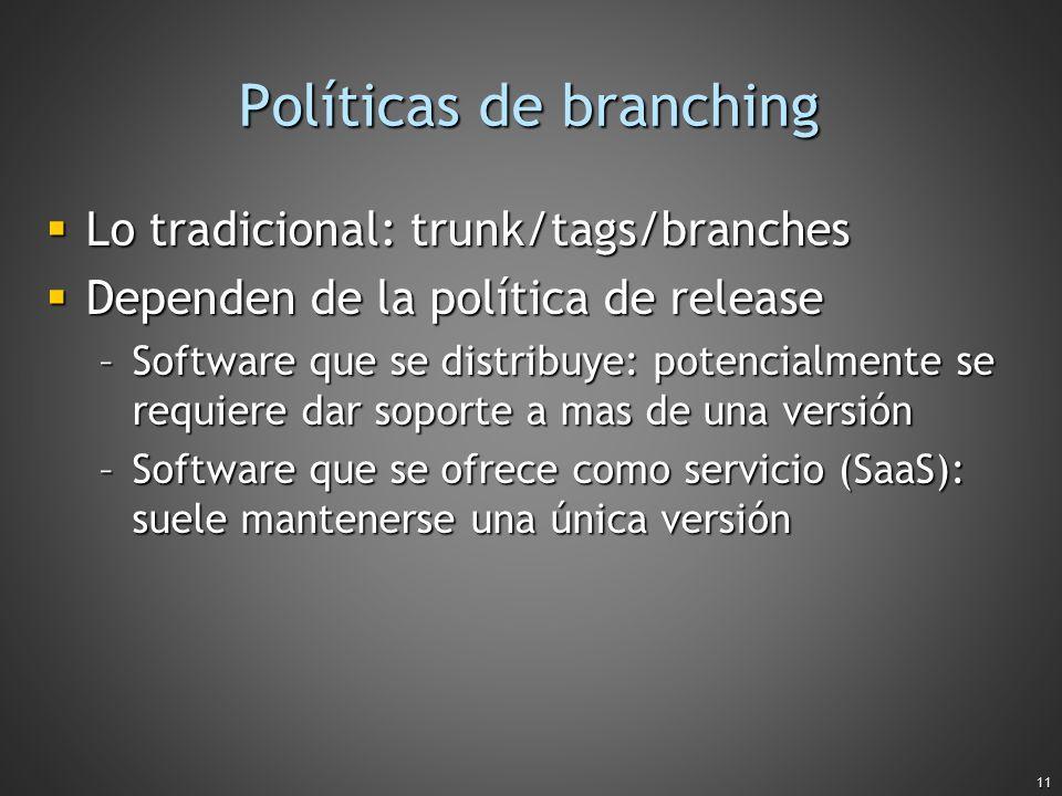 Políticas de branching