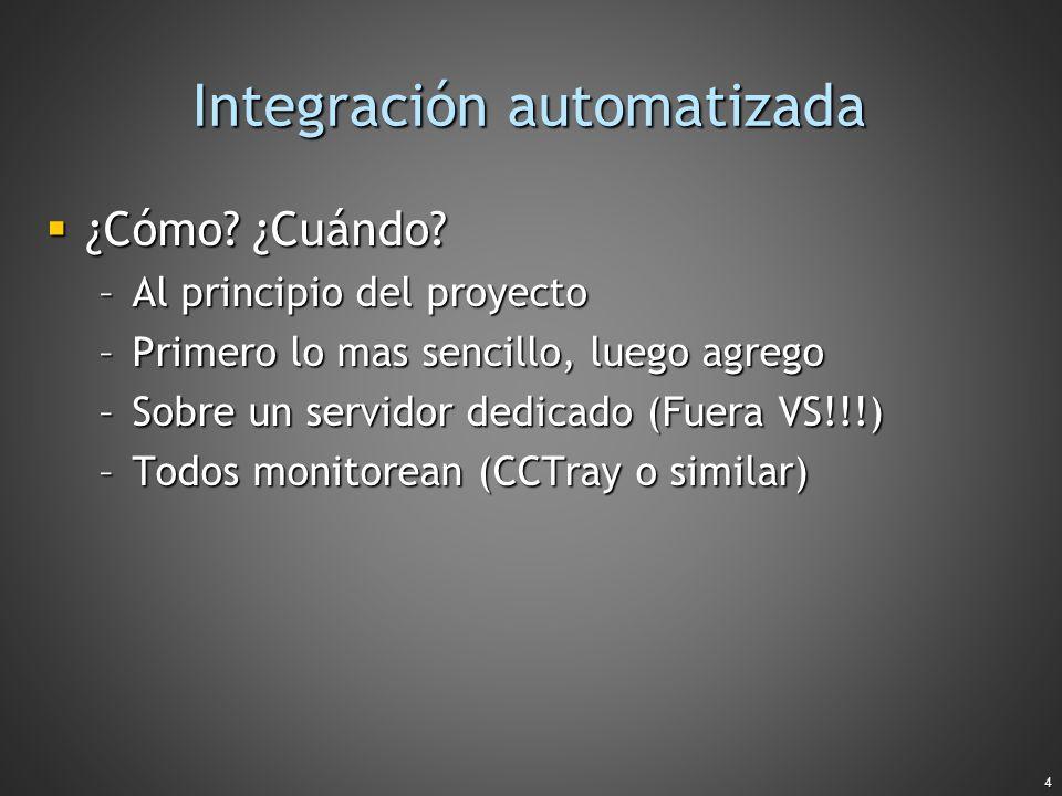 Integración automatizada