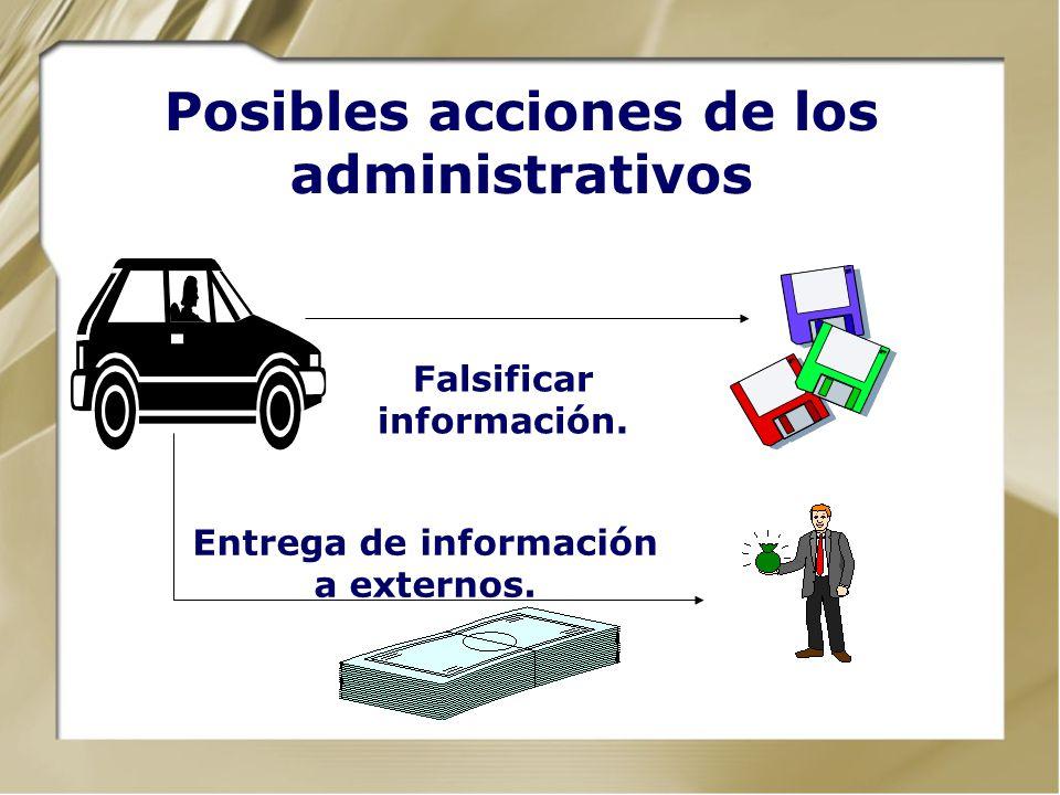Posibles acciones de los administrativos