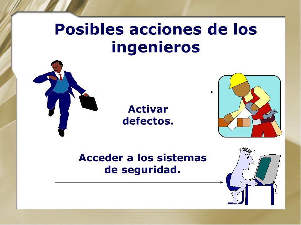 Posibles acciones de los ingenieros