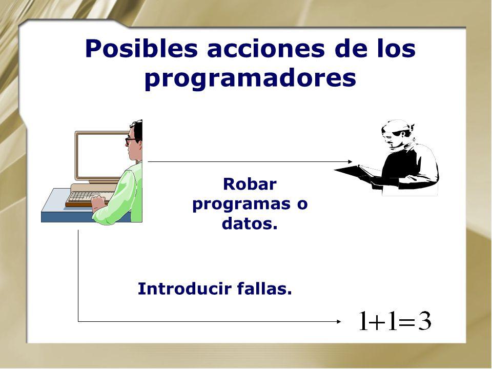 Posibles acciones de los programadores