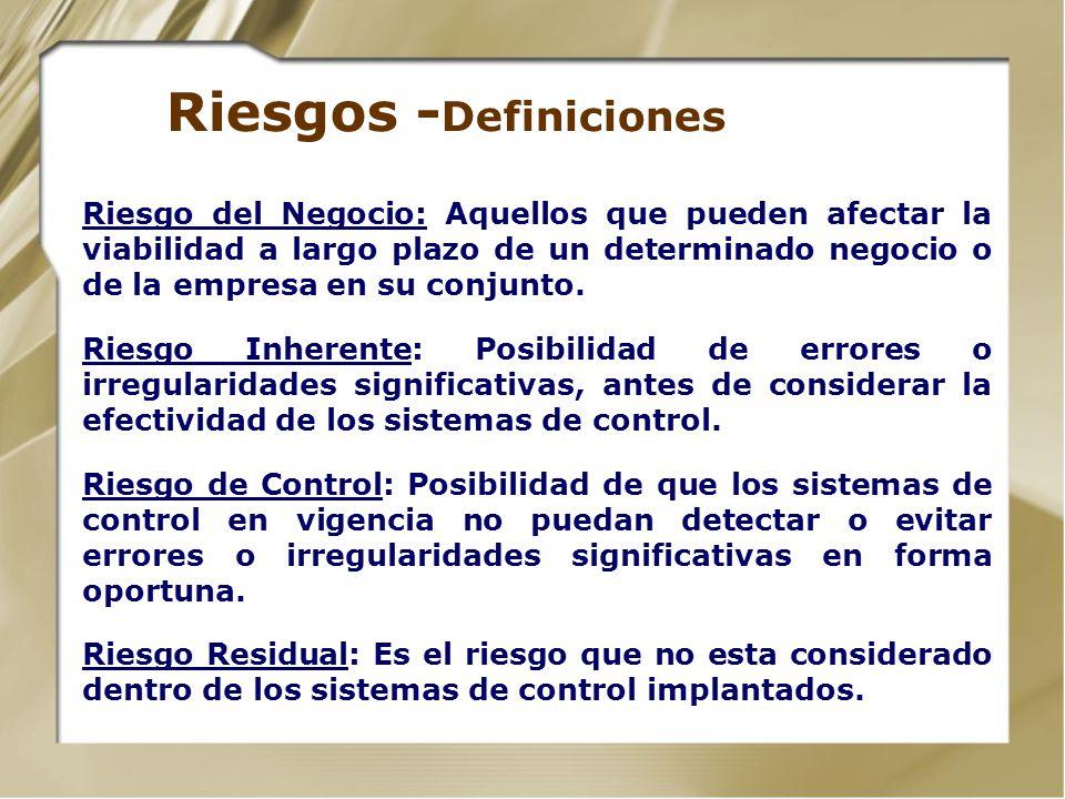 Riesgos -Definiciones