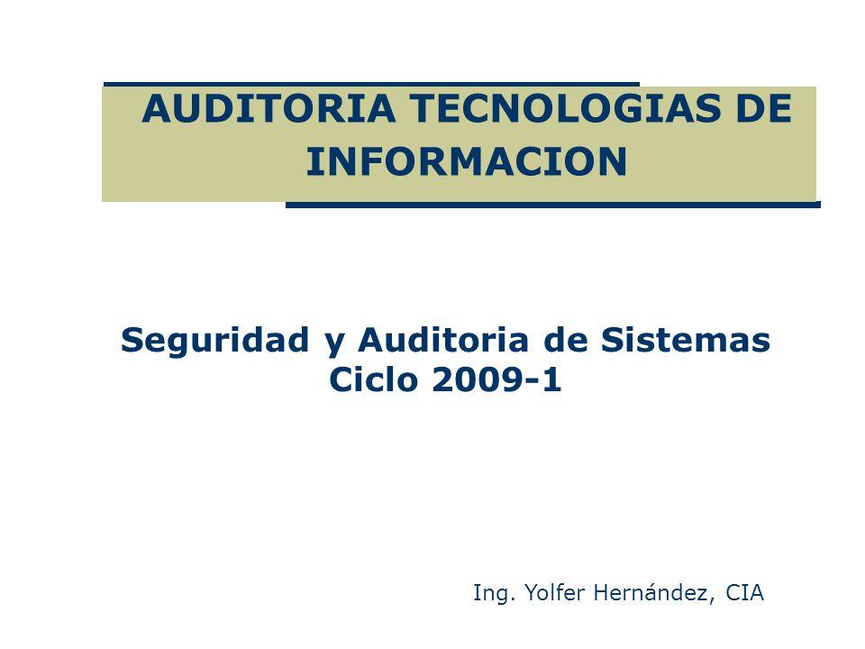 AUDITORIA TECNOLOGIAS DE INFORMACION
