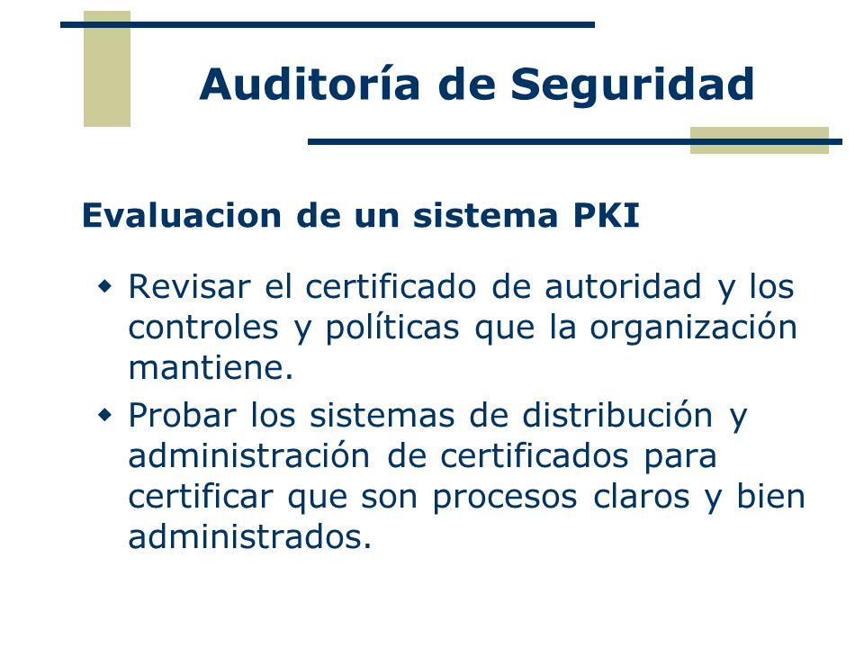 Evaluacion de un sistema PKI