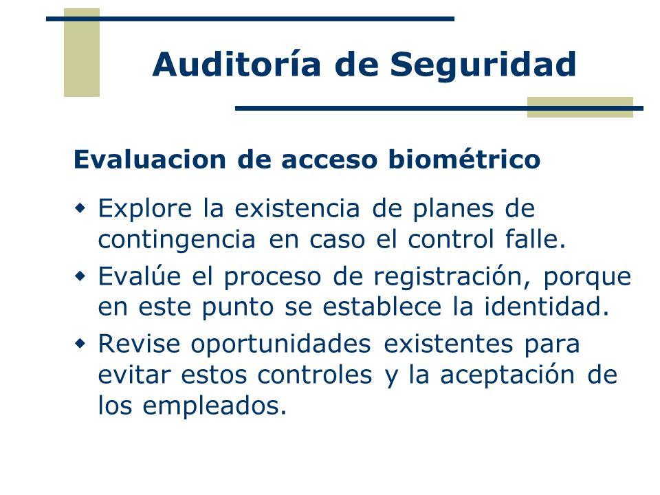 Evaluacion de acceso biométrico