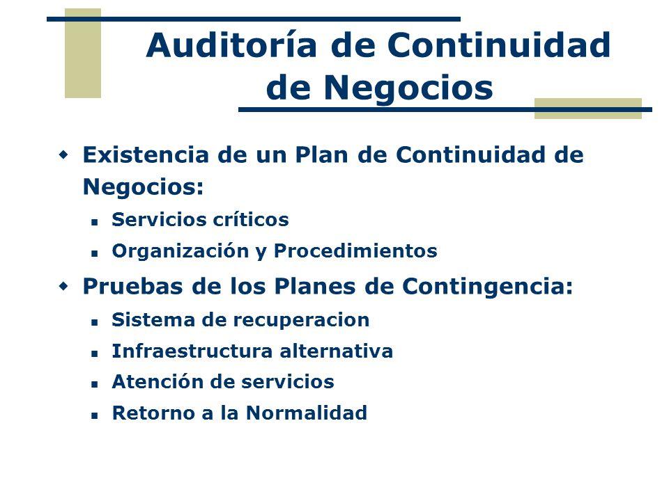 Auditoría de Continuidad de Negocios