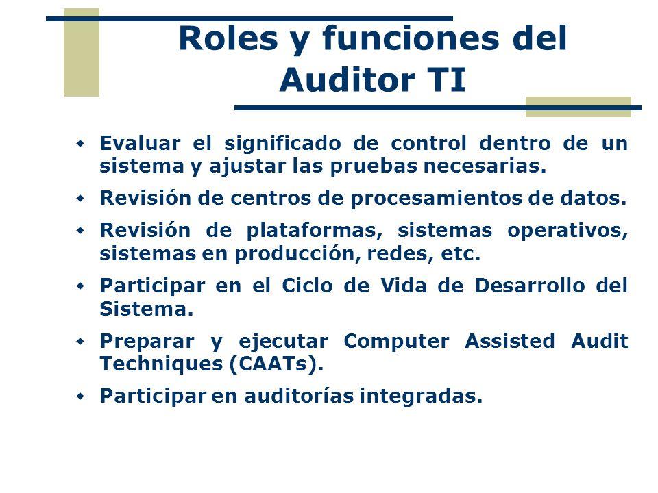 Roles y funciones del Auditor TI
