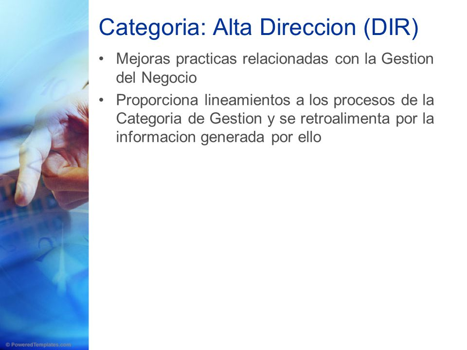 Categoria: Alta Direccion (DIR)