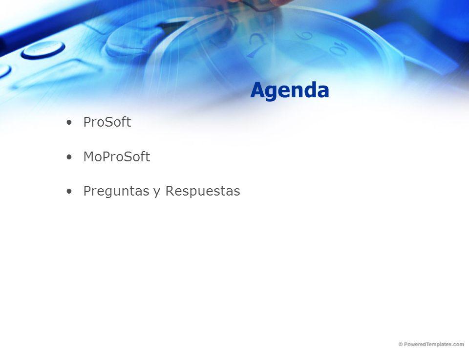 Agenda ProSoft MoProSoft Preguntas y Respuestas