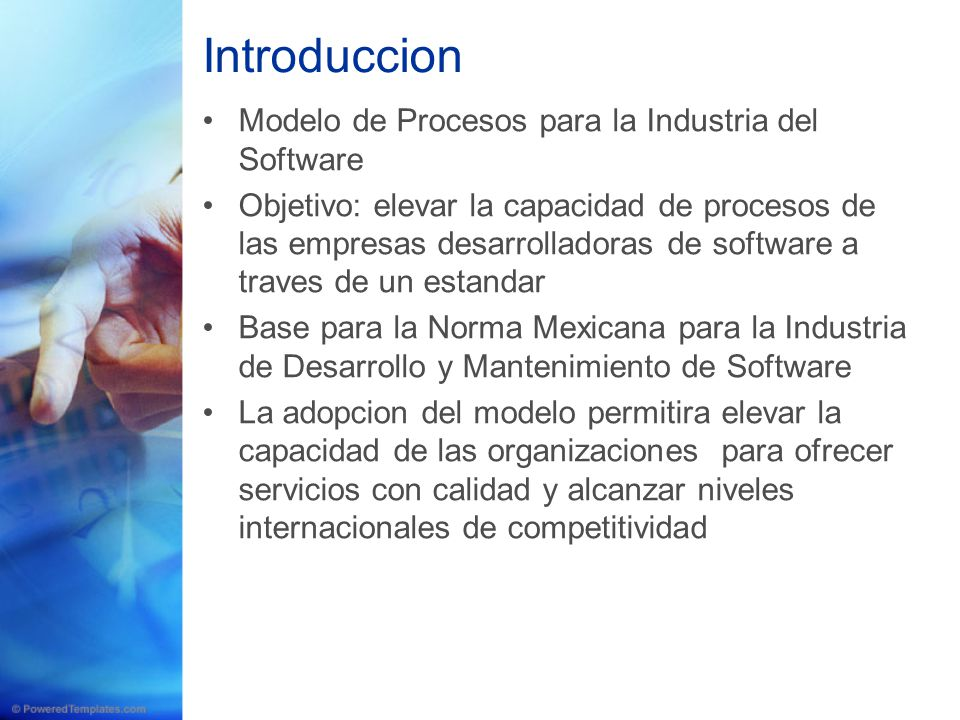 Introduccion Modelo de Procesos para la Industria del Software