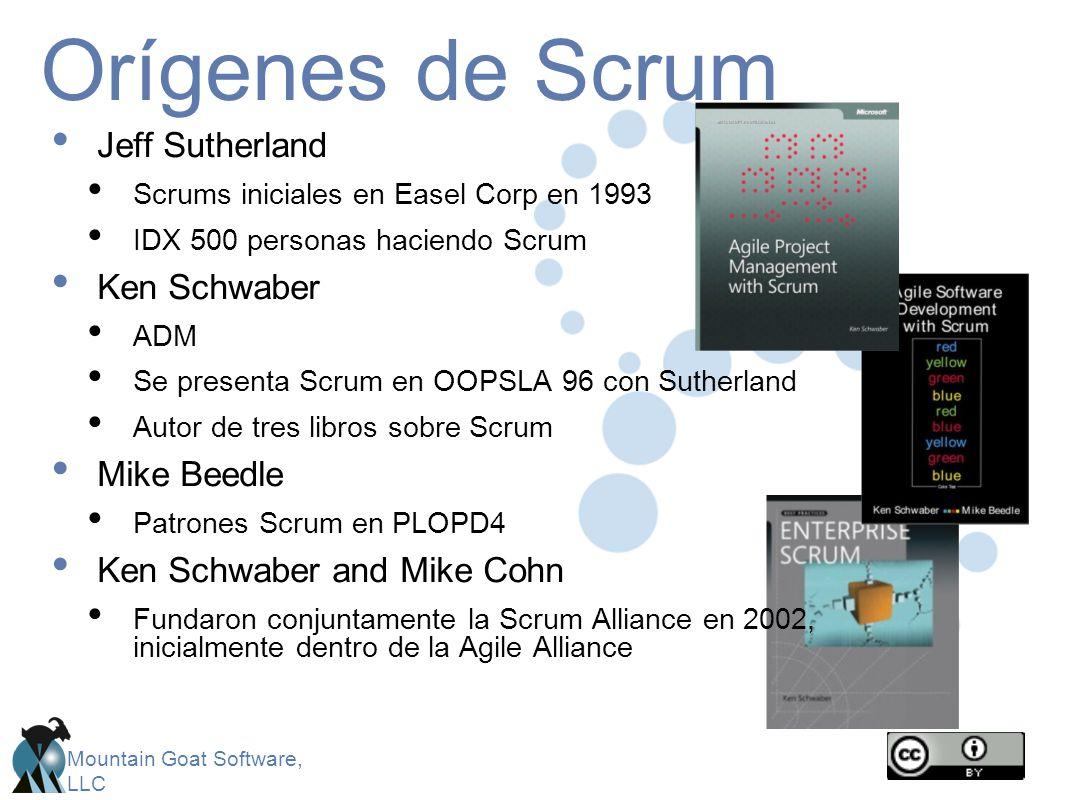 Orígenes de Scrum Jeff Sutherland Ken Schwaber Mike Beedle