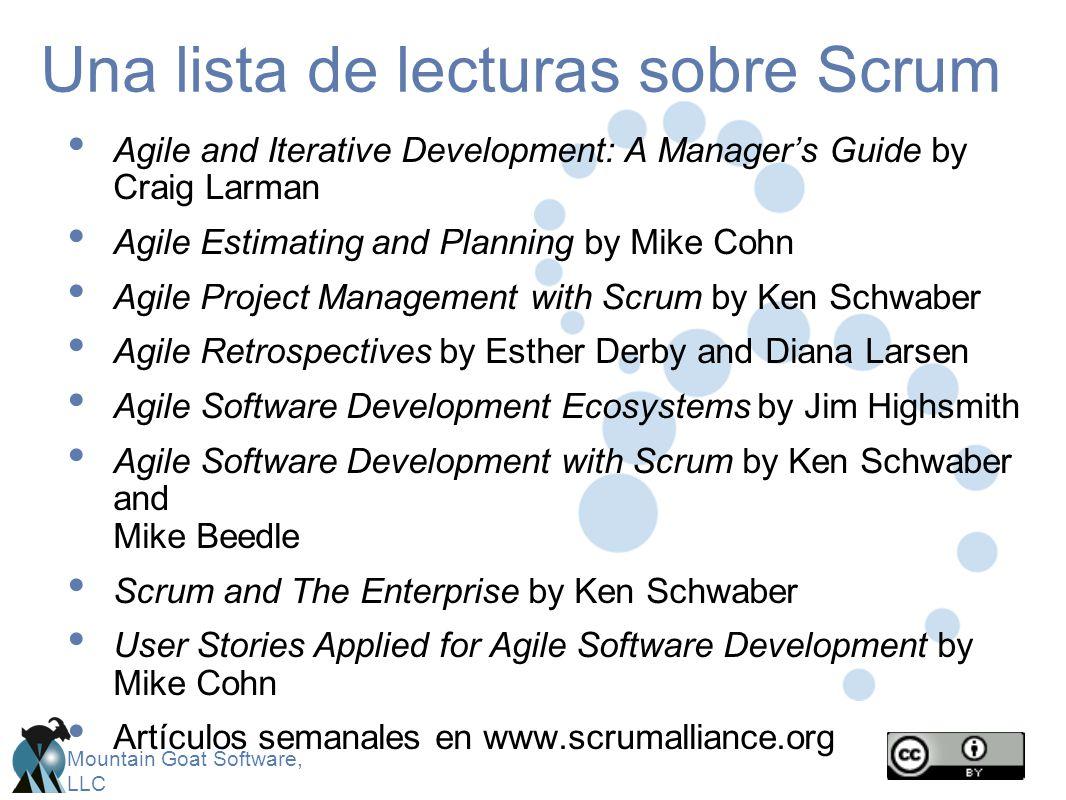Una lista de lecturas sobre Scrum