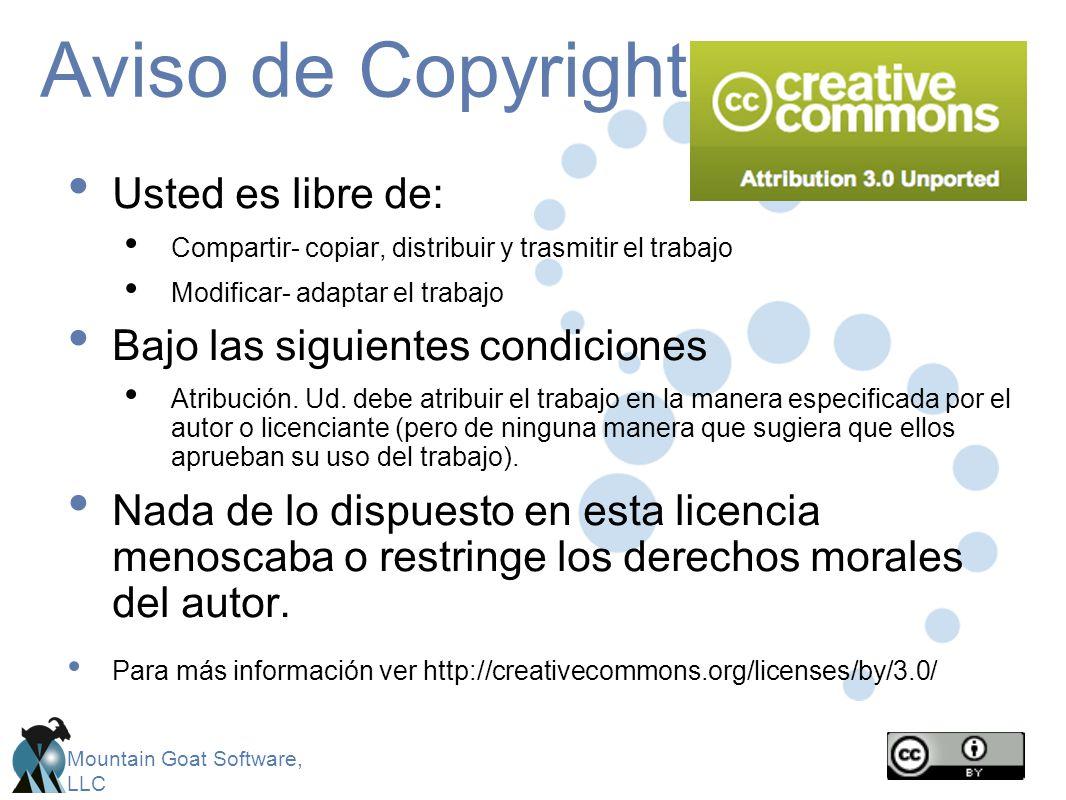 Aviso de Copyright Usted es libre de: Bajo las siguientes condiciones