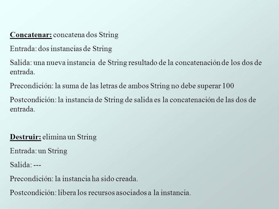 Concatenar: concatena dos String