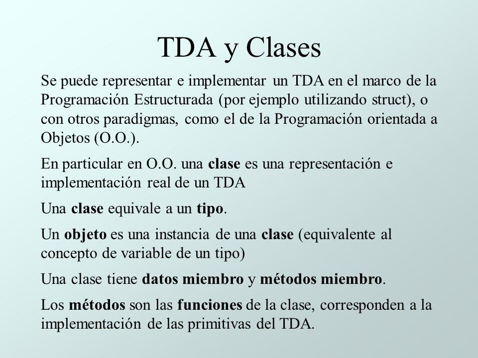TDA y Clases