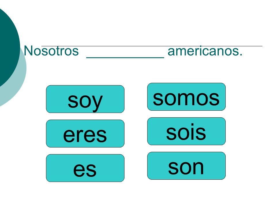Nosotros __________ americanos.