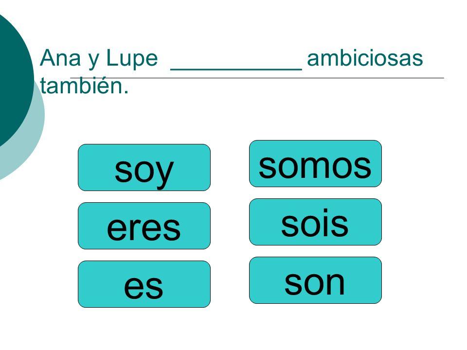 Ana y Lupe __________ ambiciosas también.