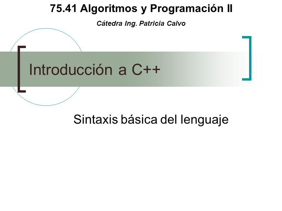 Sintaxis básica del lenguaje