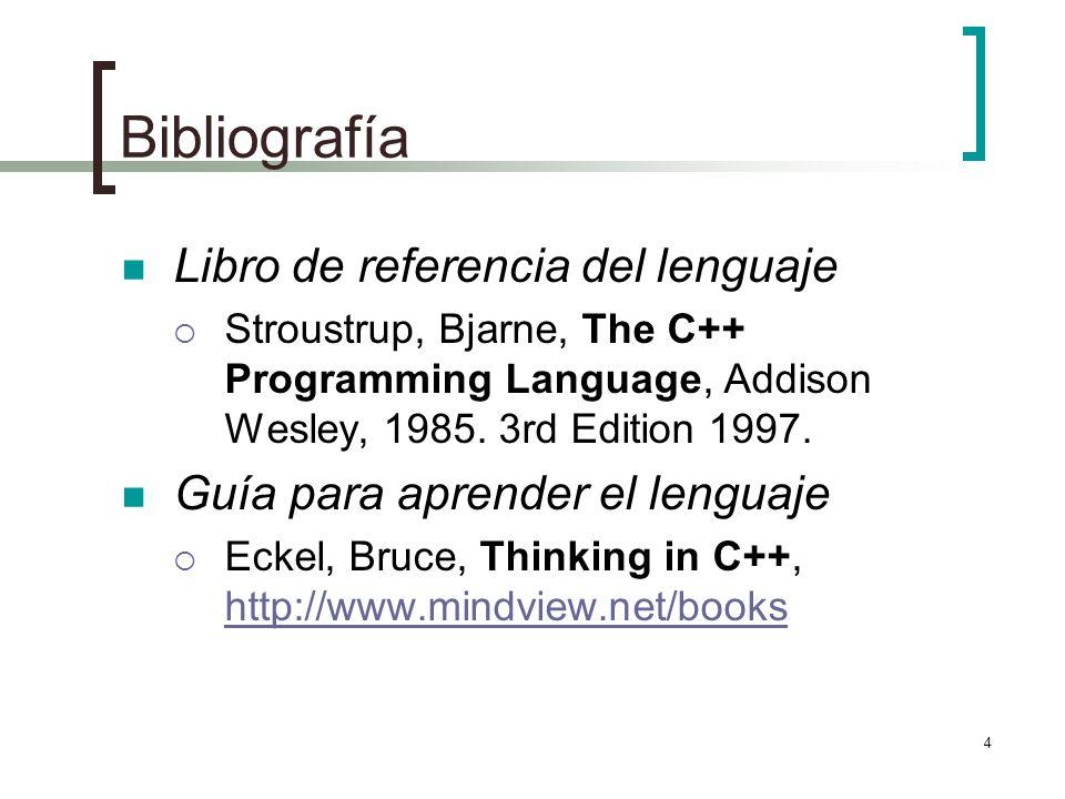 Bibliografía Libro de referencia del lenguaje
