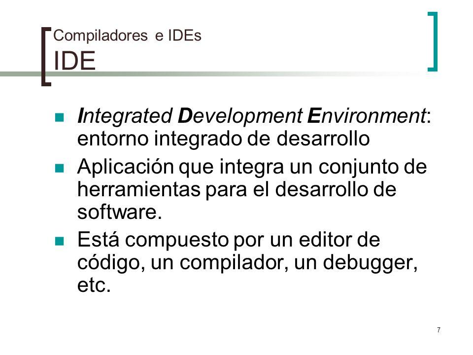 Compiladores e IDEs IDE