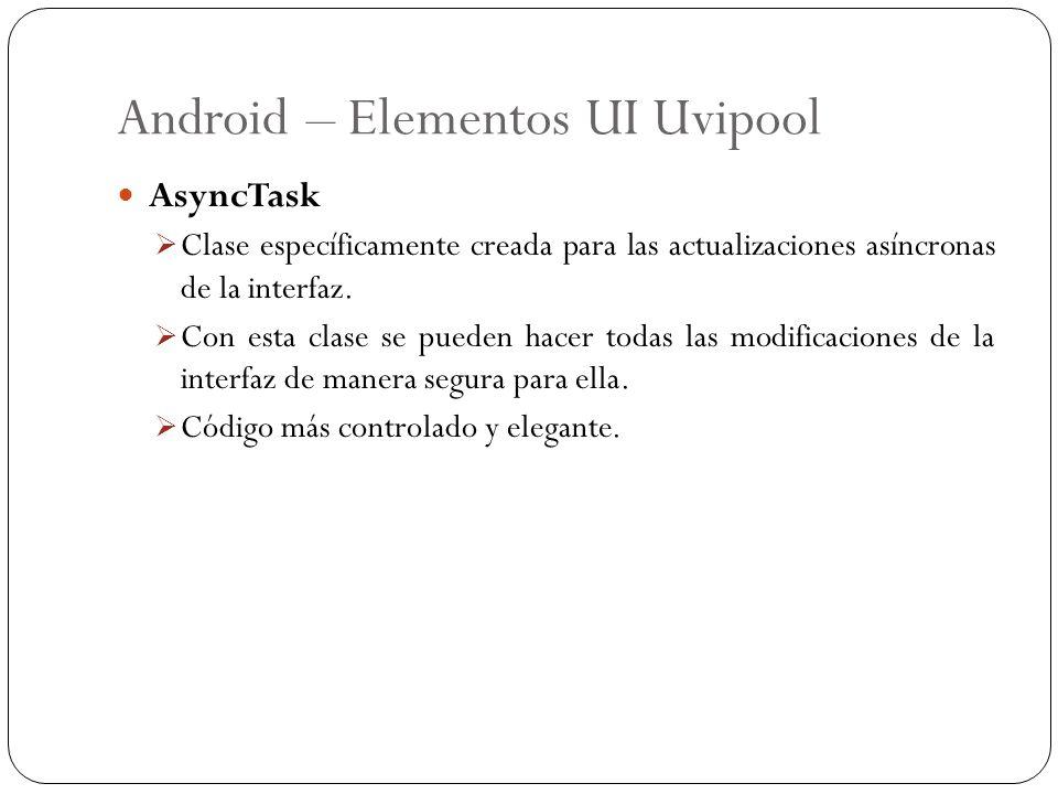 Android – Elementos UI Uvipool