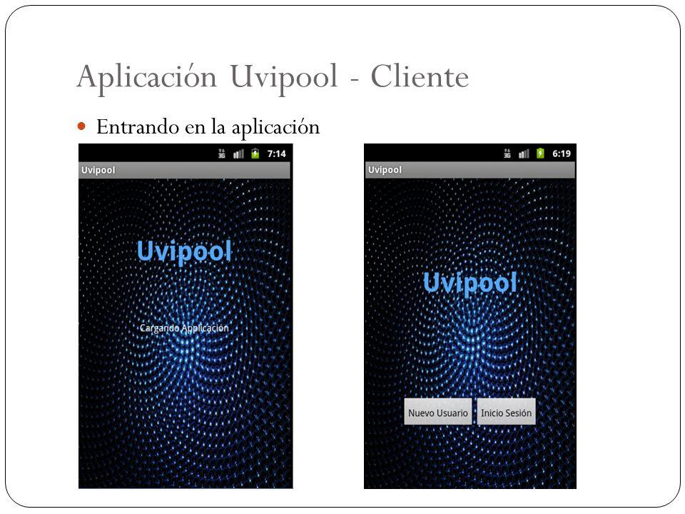 Aplicación Uvipool - Cliente