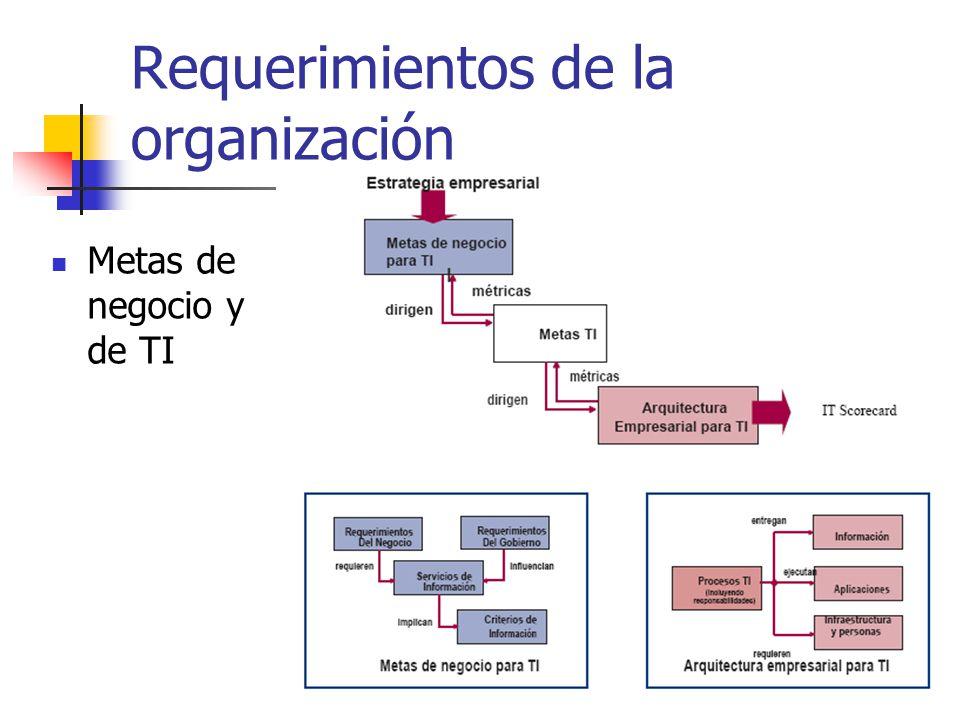 Requerimientos de la organización