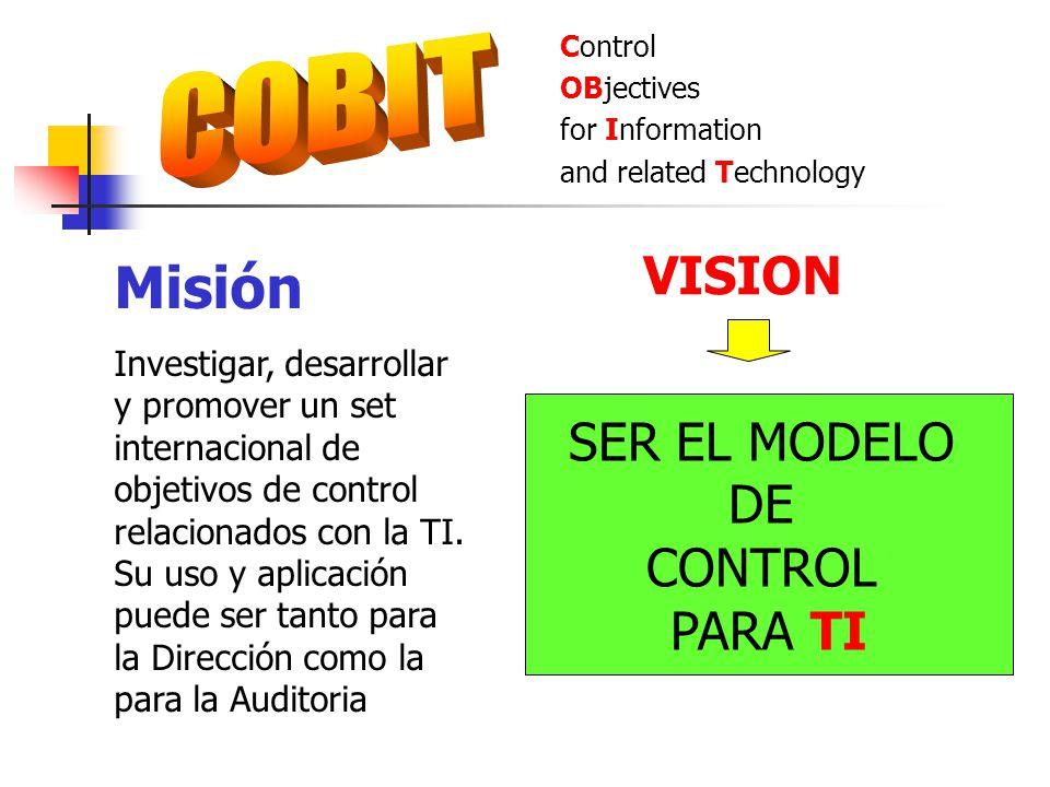 Misión COBIT VISION SER EL MODELO DE CONTROL PARA TI