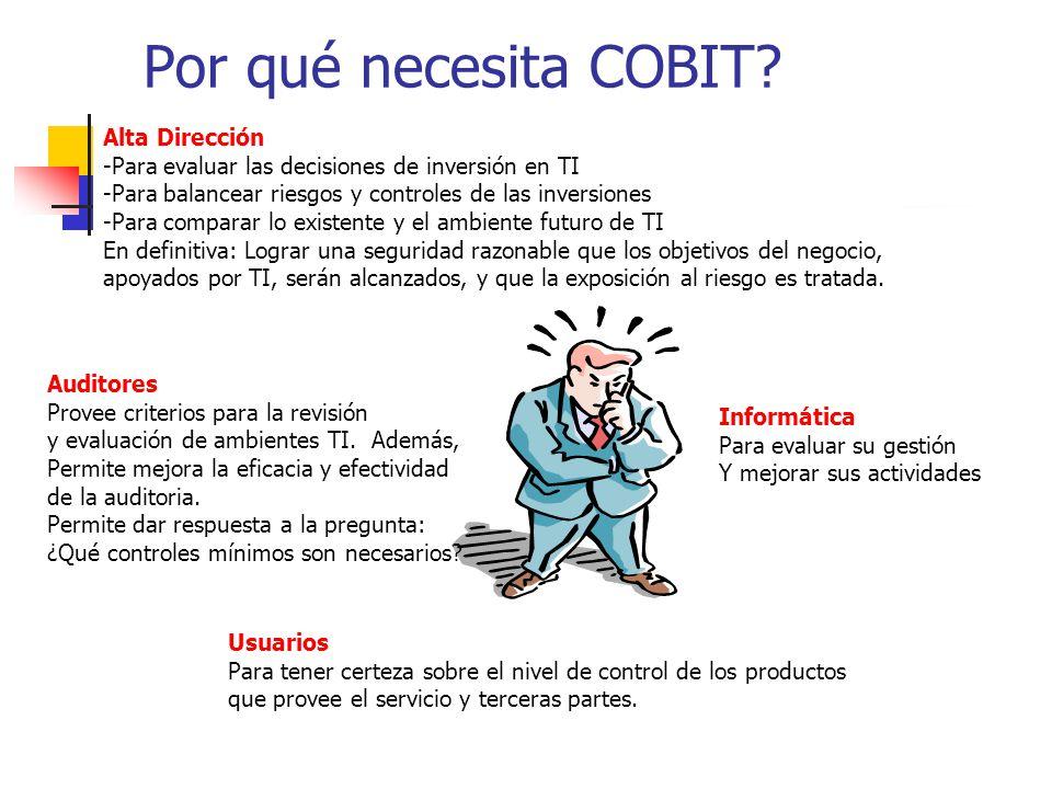 Por qué necesita COBIT Alta Dirección