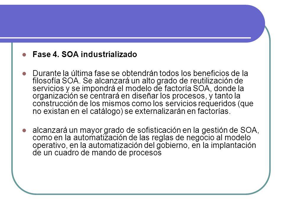 Fase 4. SOA industrializado