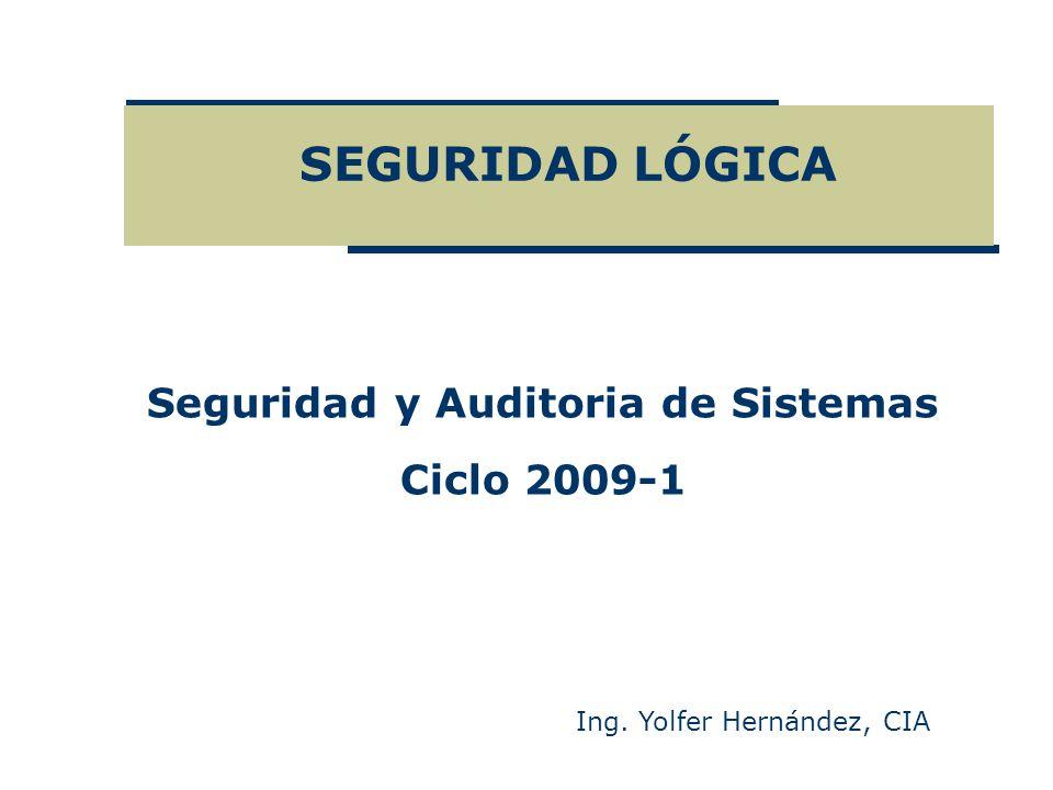 Seguridad y Auditoria de Sistemas Ciclo 2009-1