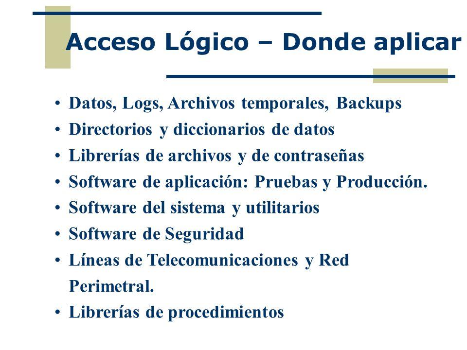 Acceso Lógico – Donde aplicar