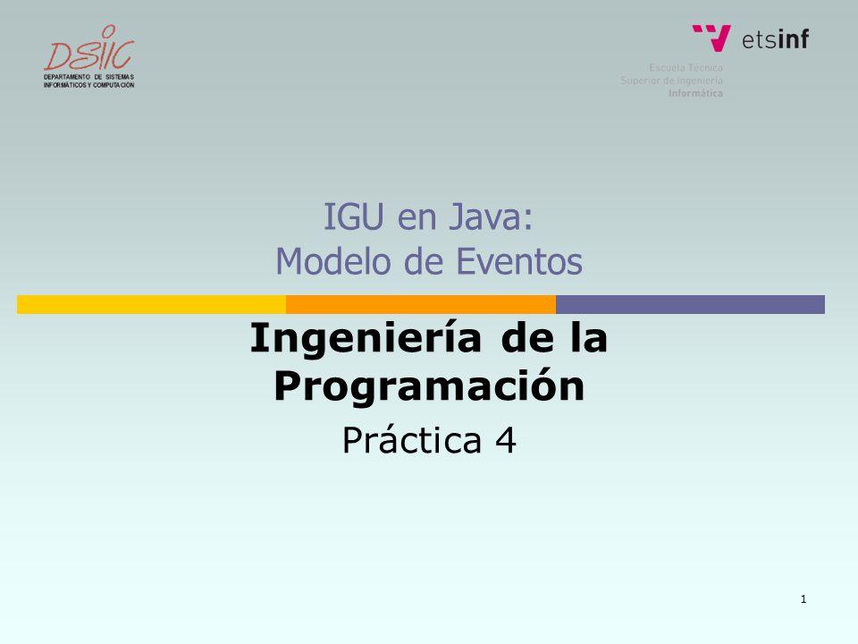 IGU en Java: Modelo de Eventos
