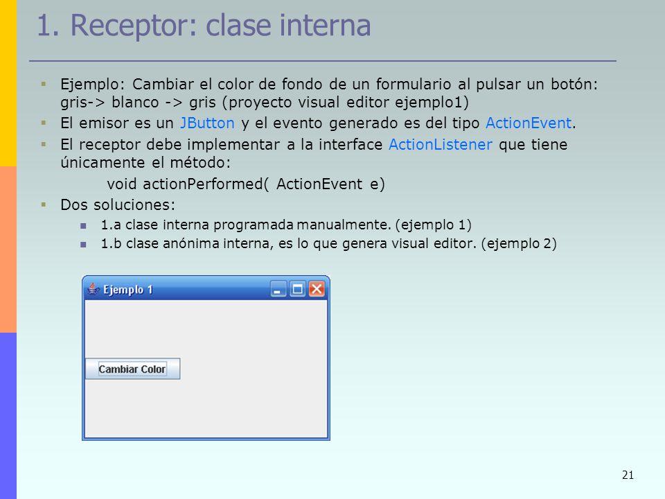 1. Receptor: clase interna